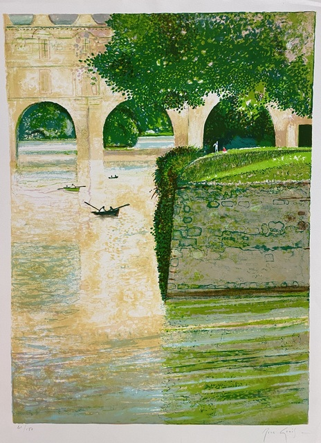 Rene Genis, 'Bords du Chenonceau', 1989, Print, Limited edition French lithograph, Artioli Findlay