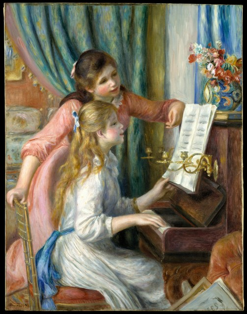 Pierre-Auguste Renoir, 'Two Young Girls at the Piano', 1892, The Metropolitan Museum of Art
