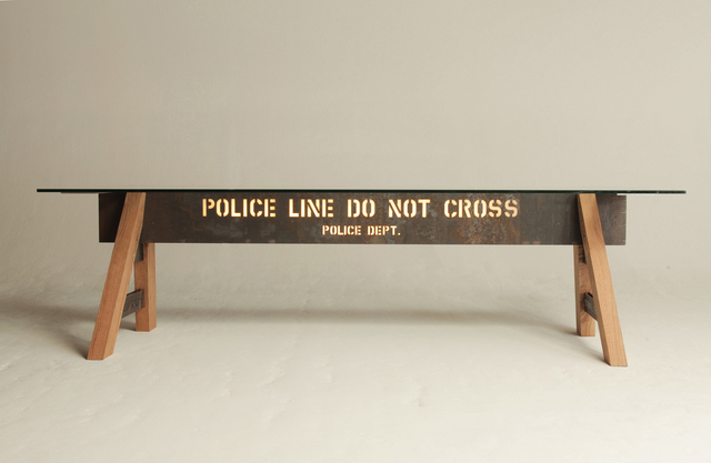 , 'Police Barricade Table Masterpieces,' 2013, Galleria Ca' d'Oro