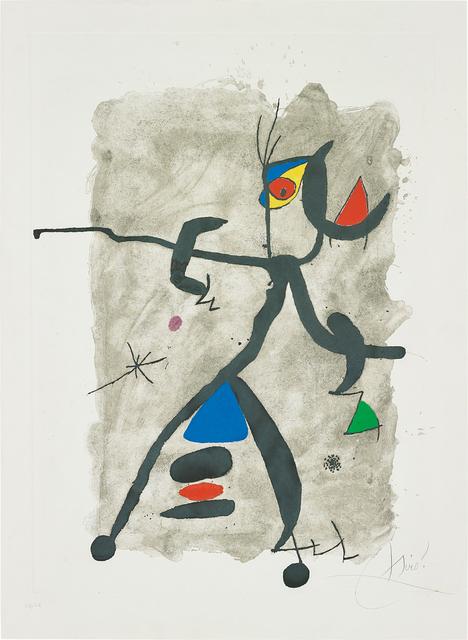 Joan Miró, 'Per Alberti, per La Spagna (For Alberti, For Spain): one plate', 1975, Phillips
