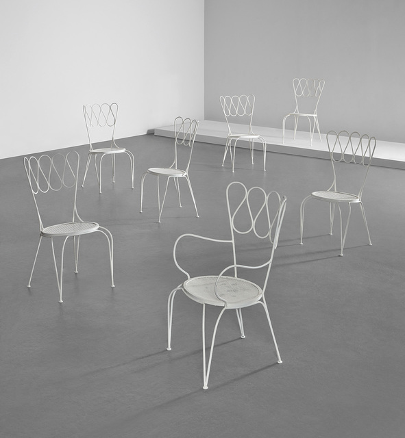 Gio Ponti, 'Set of six garden chairs and one armchair', circa 1940, Phillips