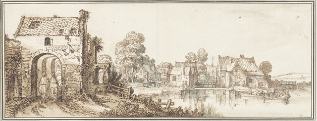 , 'A Village on a Broad River,' 1616, Rijksmuseum