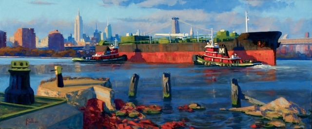 , 'Tugs and Barge at Sunset,' 2012, ACA Galleries