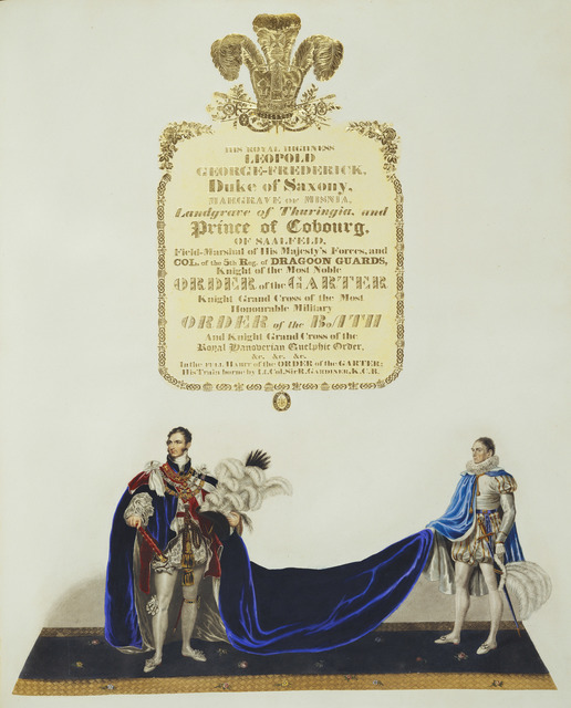 , 'Illustrated account of the Ceremonial of the Coronation of King George IV in the Abbey of St.Peter's Westminster,' 1823, Royal Collection Trust
