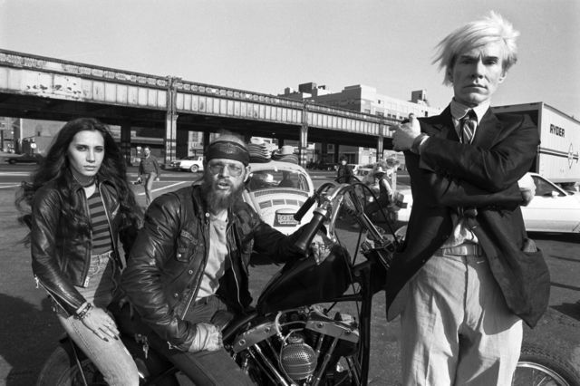 , 'Andy with bikers,' 1981, Izolyatsia