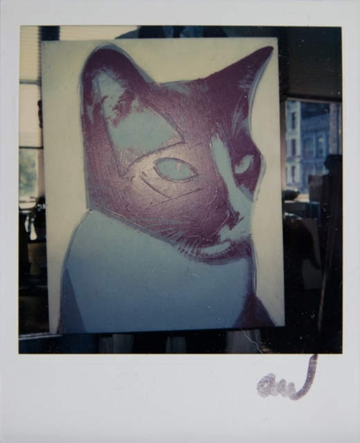 Andy Warhol, 'Andy Warhol, Cat Painting Detail at The Factory, Polaroid Photograph, 1976', 1976, Hedges Projects