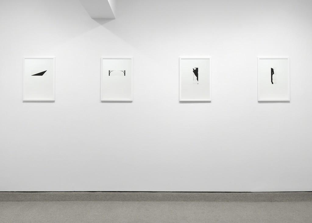 Exhibition view of 4 Robert Moskowitz prints