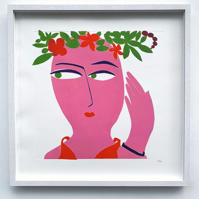 Kristiane Semar, 'Pink Lady', 2020, Print, Ink on Zerkall Alt Bern 250 gms, Dreipunkt Edition