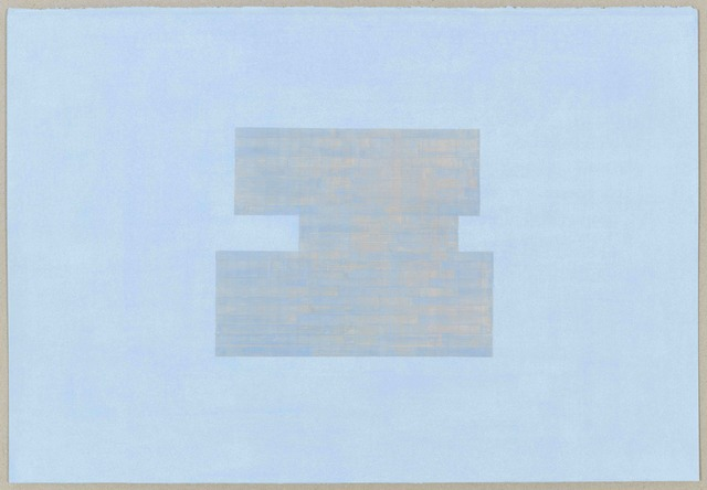, 'Study for Threshold - Plan, North [ blue with orange on blue ] # 2,' 2017, Rhona Hoffman Gallery