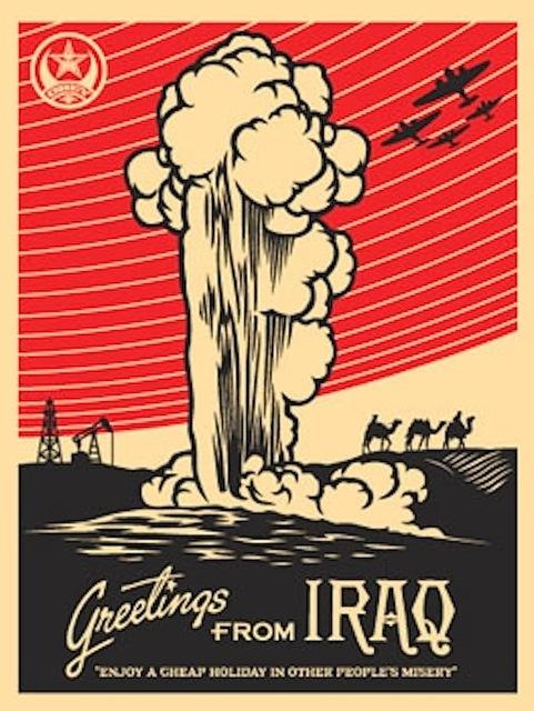 Shepard Fairey (OBEY), 'Greetings From Iraq', 2005, Gregg Shienbaum Fine Art