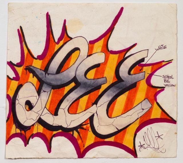 Lee Quinones, 'Lee Font Drawing Peppermint Stick', 1978, James Fuentes