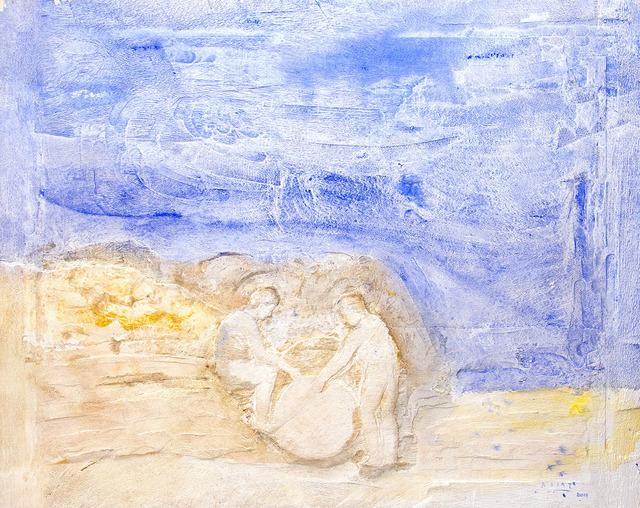 Raúl Díaz, 'LA CONVERSACION', 2019, Painting, Mixed Media on Wood Panel, Jerald Melberg Gallery