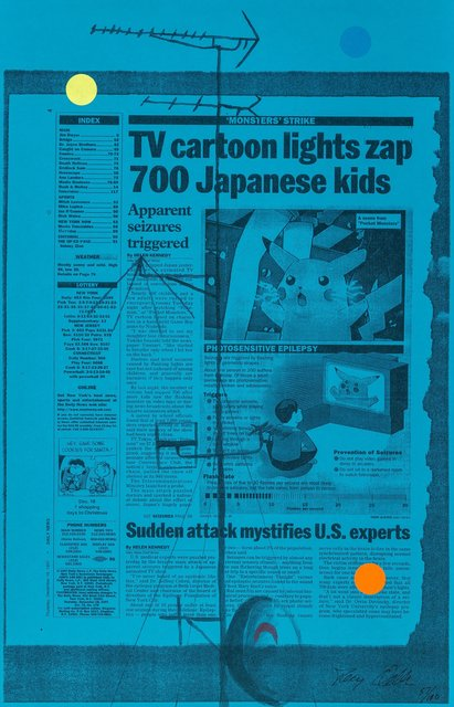 Tony Oursler, 'Untitled (TV cartoon lights zap 700 Japanese kids), triptych', 1998, Heritage Auctions