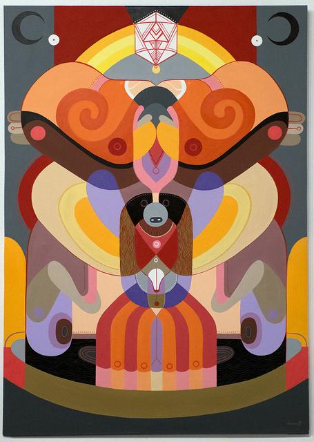 Fernando Chamarelli, 'Duas Luas (Two Moons)', 2015, Painting, Acrylic on canvas, ANNO DOMINI