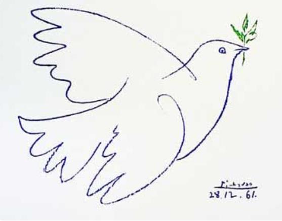 Pablo Picasso, 'Peace Dove / Paloma del Pace / Colombe de la Paix', Dec 28-1961, AYNAC Gallery