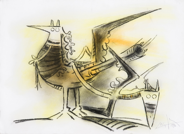Wifredo Lam, 'Untitled', 1970, Drawing, Collage or other Work on Paper, Pastel on paper, Galerie Lelong & Co.