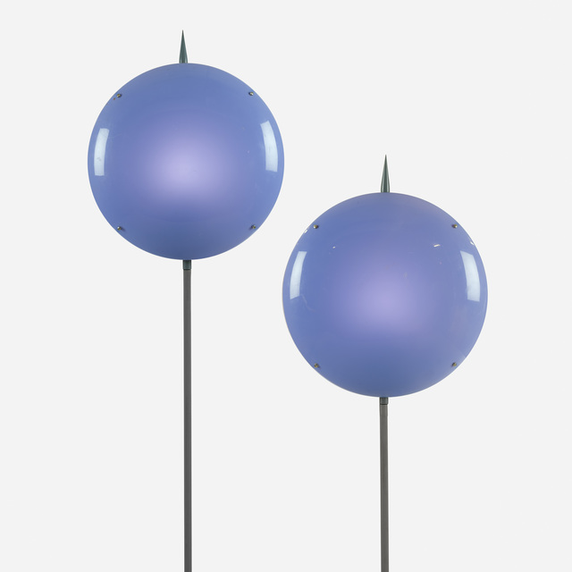 ", '""Luna"" pair of lamps from Villa Arreaza, Caracas ,' 1954, Casati Gallery"