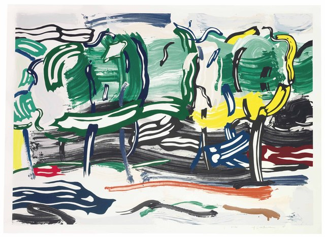 Roy Lichtenstein, 'Road Before the Forest', 1985, Print, Lithograph, woodcut, and screenprint on Arches 88 paper, Taglialatella Galleries