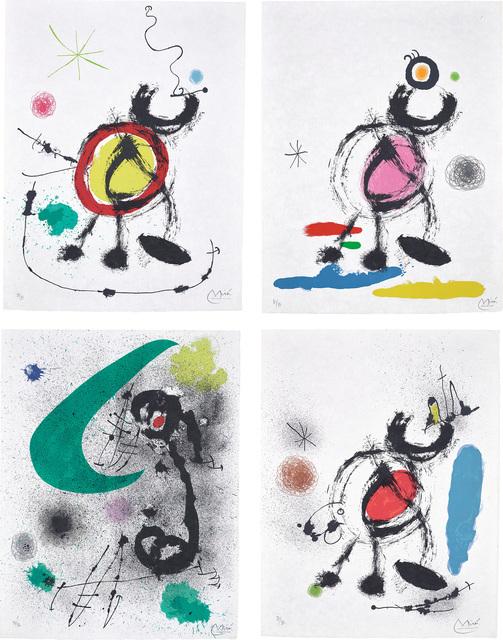 Joan Miró, 'Oiseau migrateur (Migratory Bird): four plates', 1970, Phillips