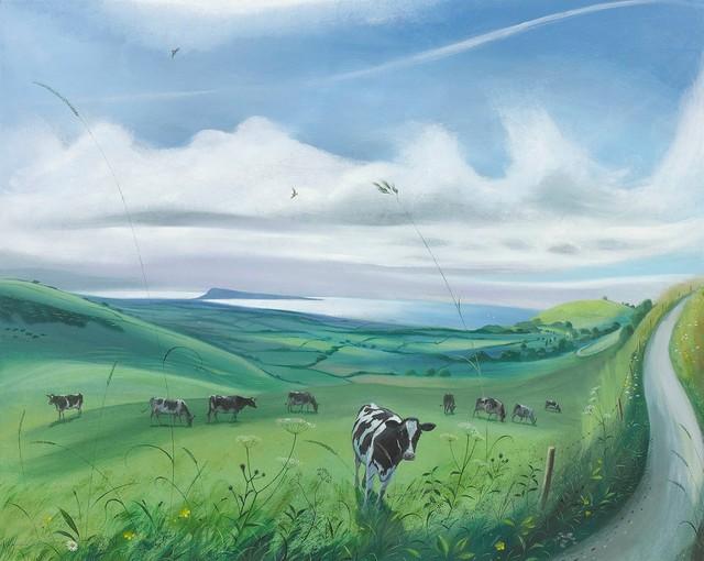 , 'Cows near Abbotsbury,' 2017, Portland Gallery