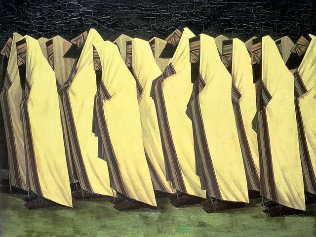Jacob Kramer, 'The Day of Atonement', 1919, Painting, Oil on canvas, Ben Uri Gallery and Museum