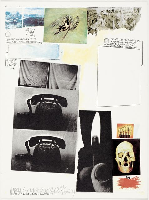 Robert Rauschenberg, 'Poster for peace', 1970, Koller Auctions