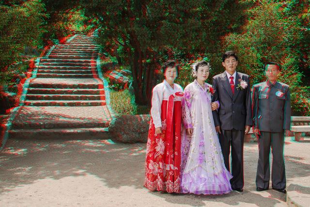, '  #94. KIM YONG IL, Groom, 30 + RI HYON A, Bride, 26, Tonghungsan Park, Hamhung,' 2014, Pékin Fine Arts