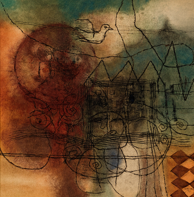 Louis Maqhubela, 'Abstract with Bird', Strauss & Co