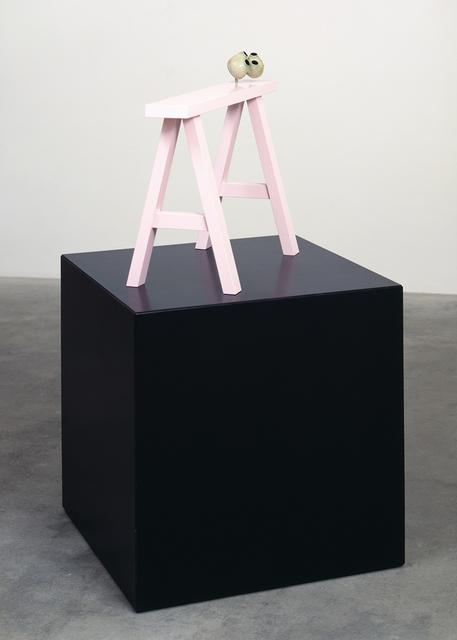 , 'Ohne Title (Auf diesem Bock legte man die Toten im Leichenschauhaus der Friedenschip Hospital in Beijing...),' 1990, Galerie Isabella Czarnowska