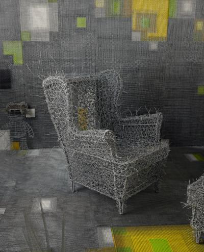 Zhou Jie 周洁, 'Wonderful Plan (Part)', 2015, Installation, Steel Wire, Beijing Art Now Gallery