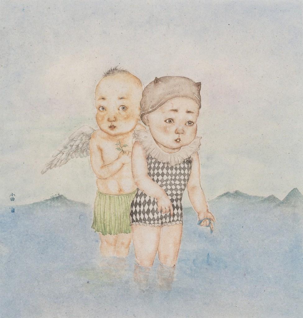 """Weiwei Qu """"Drops of Water"""" 55 x 58 cm"""