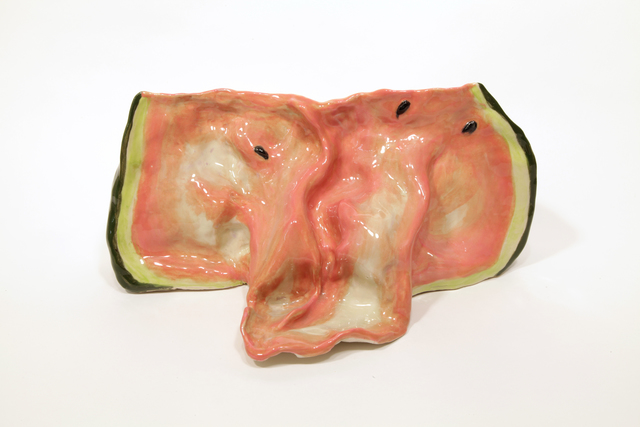 , 'Watermelon Tongue 1,' 2016, Burning in Water