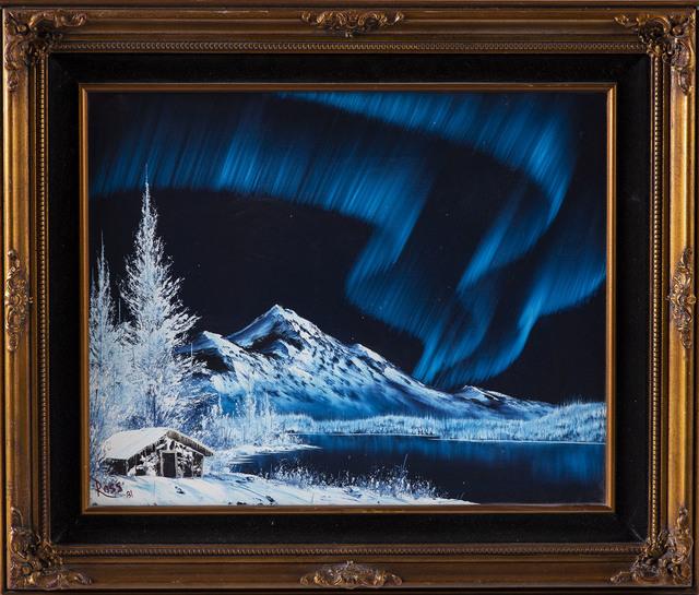 Bob Ross   Bob Ross Signed Original Blue Alaskan Mountain