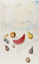 After Salvador Dali, 'Ship and Fruits,' 1986, Forum Auctions: Editions and Works on Paper (March 2017)