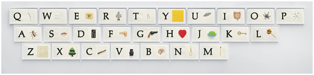, 'A B C Art (Low Relief): A/Ant, Etc. (Keyboard),' 2009, Mixografia