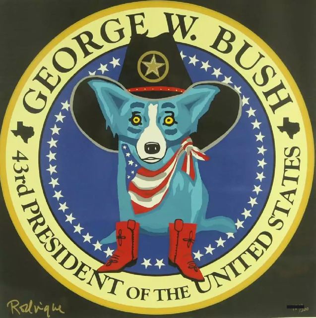 George Rodrigue, 'George W. Bush Presidential Seal Blue Dog', 2001, Modern Artifact