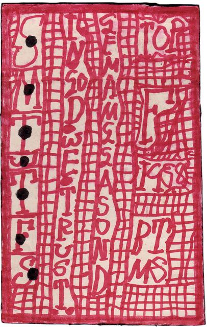 , 'untitled,' 1988, christian berst art brut