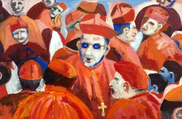 , 'Cluster of Cardinals,' 2012, Paraphé