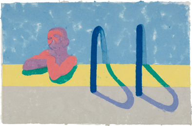 David Hockney, 'Gregory in the Pool E (Paper Pool 4),' 1978, Phillips: Evening and Day Editions