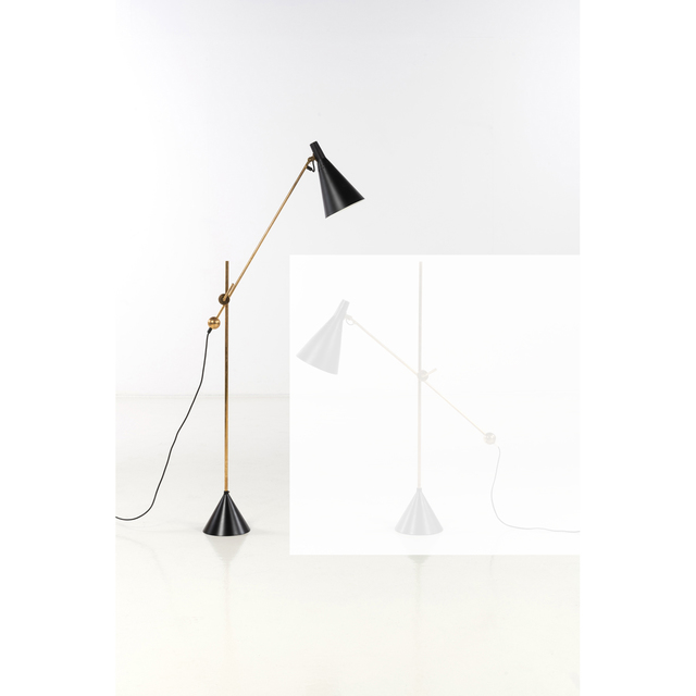 Tapio Wirkkala, 'Model K10-11, Floor lamp', 1959, Design/Decorative Art, Laiton et métal laqué, PIASA