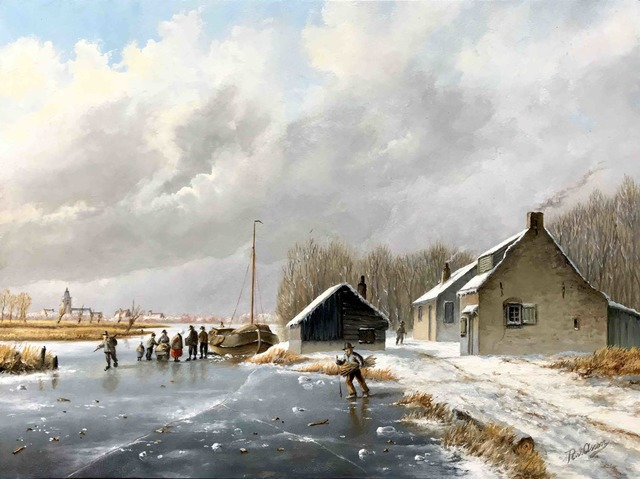, 'Ice landscape with figures on the ice,' , ArtBoutique
