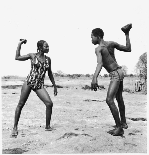 , 'Combat des amis avec pierres,' 1976, Magnin-A