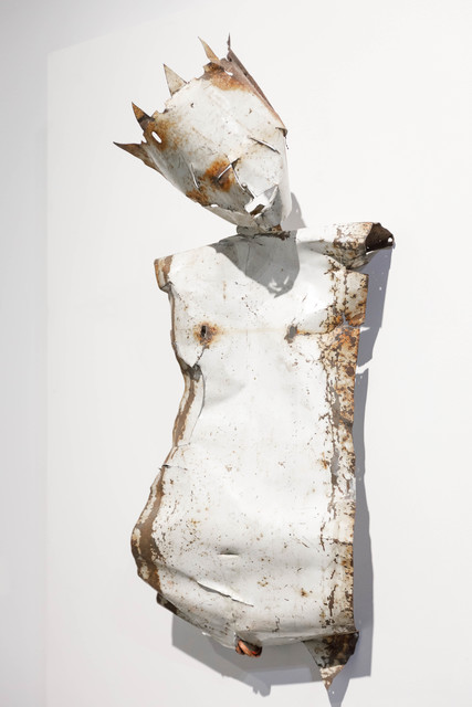 Paolo Pelosini, 'Martyr 4', 2010, Sculpture, Found Metal on Wooden Panel, HG Contemporary