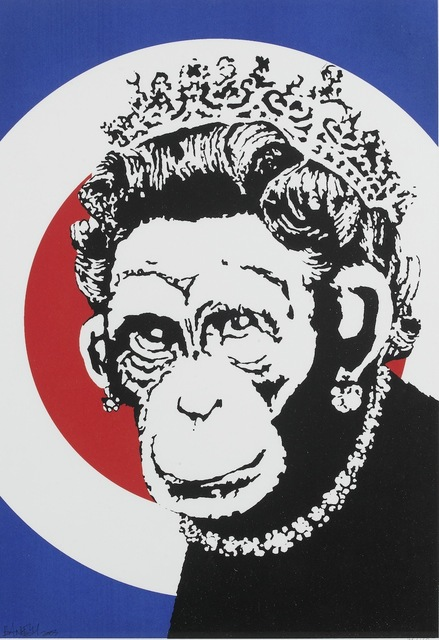 Banksy, 'Monkey Queen (unsigned)', 2003, Lougher Contemporary