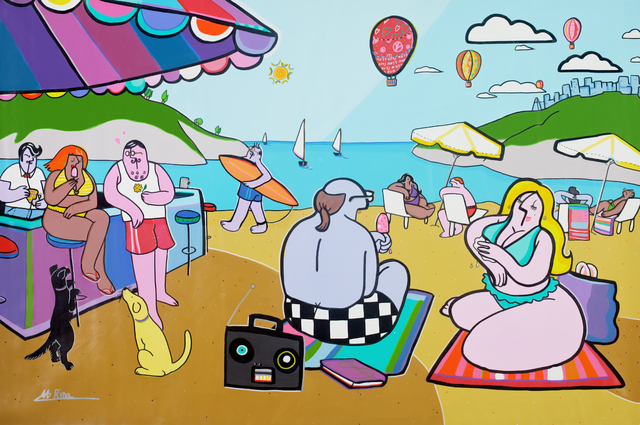 , 'Beach Day,' 2016, Blue Gallery
