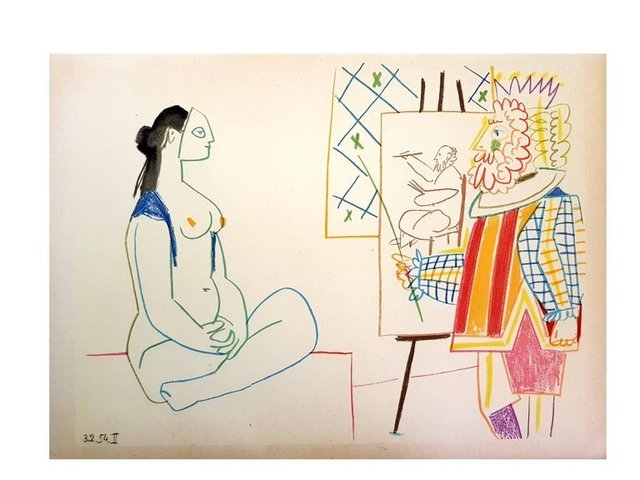 "Pablo Picasso, 'Lithograph ""Human Comedy XV"" after Pablo Picasso', 1954, Galerie Philia"