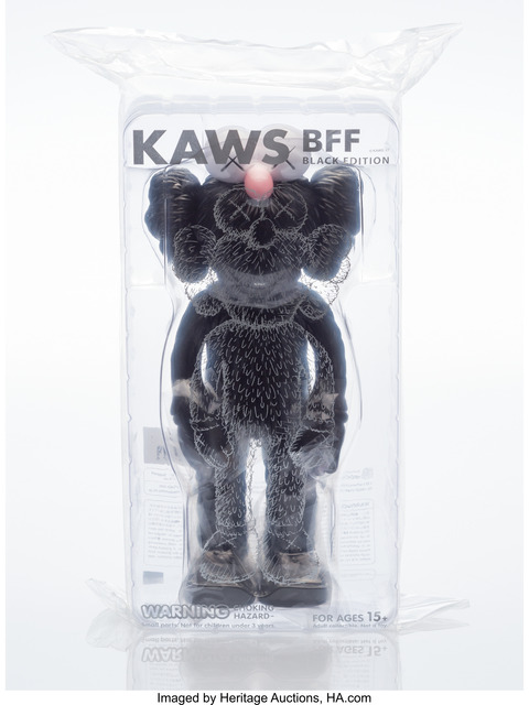 KAWS, 'BFF (Open Edition) (Black)', 2017, Other, Painted cast vinyl, Heritage Auctions