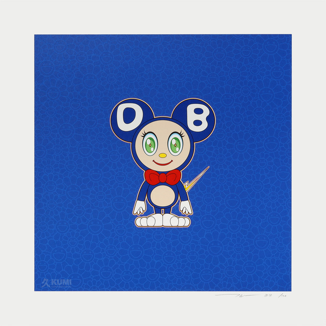 Takashi Murakami, 'DOB Blue 2020', 2020, Print, Lithograph, Kumi Contemporary / Verso Contemporary