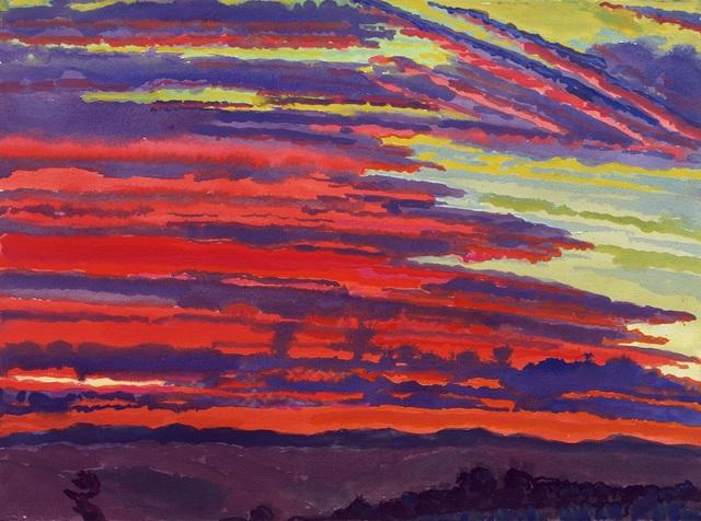, 'Sarageto Dawn: Red Sky, Last Day No. 8,' 2007, New York Studio School