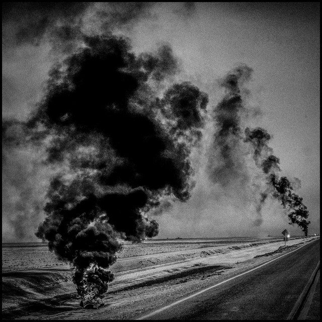 , 'Burning Tires. Corcoran, California.,' 2014, Magnum Photos